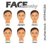 how to make perfect face... | Shutterstock .eps vector #695940184