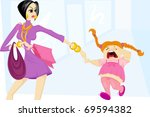 mommy and daughter | Shutterstock .eps vector #69594382