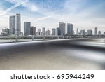 panoramic skyline and buildings ... | Shutterstock . vector #695944249