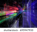 future city street   abstract... | Shutterstock . vector #695947933