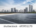 panoramic skyline and buildings ... | Shutterstock . vector #695951170