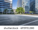 empty floor with modern... | Shutterstock . vector #695951380