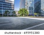 empty floor with modern... | Shutterstock . vector #695951380