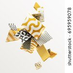 composition of gold and black... | Shutterstock .eps vector #695959078