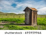 An old outhouse.