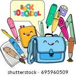 colorful vector illustration in ...   Shutterstock .eps vector #695960509