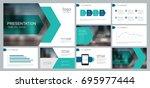 design template for business... | Shutterstock .eps vector #695977444