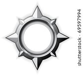 steel detailed compass rose... | Shutterstock .eps vector #69597994