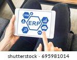 erp  enterprise resource... | Shutterstock . vector #695981014