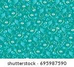 seamless vector floral pattern... | Shutterstock .eps vector #695987590