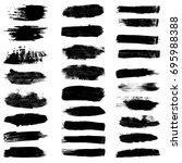 paint brush strokes  black... | Shutterstock .eps vector #695988388
