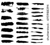 paint brush strokes  black... | Shutterstock .eps vector #695988394