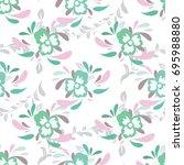 seamless flower pattern | Shutterstock .eps vector #695988880