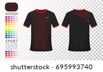transparent   t shirt red and... | Shutterstock .eps vector #695993740