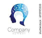 vector symbol of human head.... | Shutterstock .eps vector #695995333