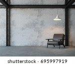 loft style living room 3d... | Shutterstock . vector #695997919