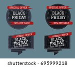 set of black friday banners | Shutterstock .eps vector #695999218