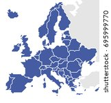 europe map stylized and... | Shutterstock .eps vector #695999770