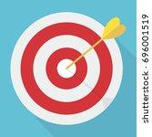 target with arrow. market goal... | Shutterstock .eps vector #696001519
