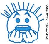 emoticon stuck in fear  scared...   Shutterstock .eps vector #696005056