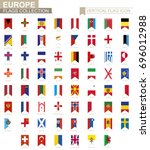 vertical flag icon of europe.... | Shutterstock .eps vector #696012988