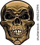 skull tattoo. life is short    Shutterstock .eps vector #696012994