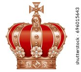 illustration of the crown.  ... | Shutterstock . vector #696015643