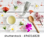 natural skincare products aroma ... | Shutterstock . vector #696016828