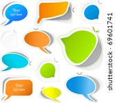 speech bubbles. great... | Shutterstock .eps vector #69601741