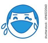 emoji expressing laughter or... | Shutterstock .eps vector #696022060