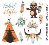 tribal party set | Shutterstock .eps vector #696024550