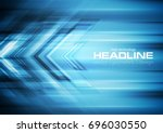 bright blue tech background... | Shutterstock .eps vector #696030550