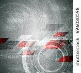tech grunge textural abstract... | Shutterstock .eps vector #696030598