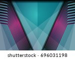 abstract decorative geometric... | Shutterstock .eps vector #696031198
