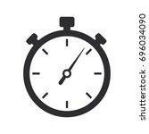 stopwatch icon | Shutterstock .eps vector #696034090