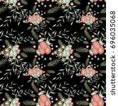 small flowers seamless pattern. ... | Shutterstock .eps vector #696035068