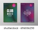 electronic music poster. modern ... | Shutterstock .eps vector #696036250