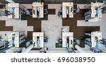 office workplace. modern office.... | Shutterstock . vector #696038950