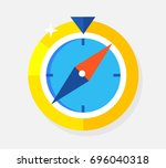 the golden compass. concept... | Shutterstock .eps vector #696040318
