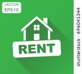 rent house icon. vector... | Shutterstock .eps vector #696041344