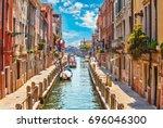 Street Venice Canal Boat Blue - Fine Art prints
