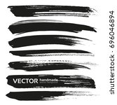 Abstract Black Thick Vector...