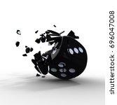 dice. poker dice. 3d rendereing | Shutterstock . vector #696047008