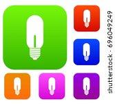 light bulb set icon in... | Shutterstock .eps vector #696049249