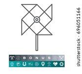 windmill   Shutterstock .eps vector #696051166