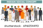 family and social concept.... | Shutterstock .eps vector #696054493