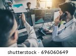 business team investment... | Shutterstock . vector #696060649