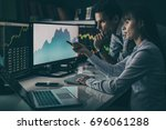 analyzing data  graphs and... | Shutterstock . vector #696061288