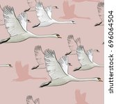 vector illustration of seamless ... | Shutterstock .eps vector #696064504