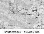 vintage texture halftone black... | Shutterstock . vector #696069406